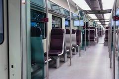 Intérieur de train de KLIA de Kuala Lumpur, Malaisie Photo stock
