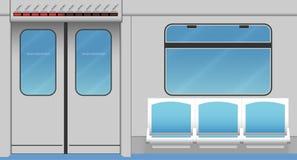 Intérieur de train de métro Photos stock