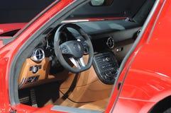 Intérieur de véhicule d'amg de sls de benz de Mercedes Image stock