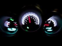 Intérieur de véhicule d'indicateur de vitesse Photographie stock