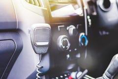 Intérieur de voiture avec la radio de CB Images libres de droits
