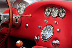 Intérieur de voiture de cabriolet images stock