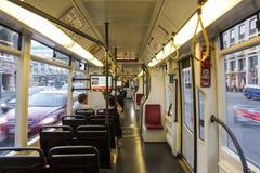 Intérieur de voiture de tramway Photographie stock