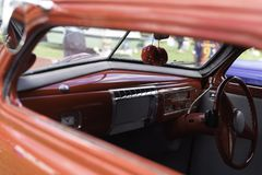 Intérieur de voiture de vintage avec des matrices photo libre de droits