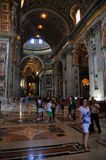 Intérieur de vue de Vaticano Images libres de droits