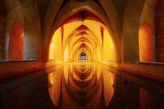 Intérieur des Alcazars royaux, Séville Image libre de droits