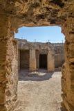 Intérieur des tombes des rois Images stock