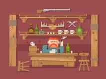 Intérieur du bar illustration stock