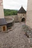 Intérieur du château médiéval de la ville de Trencin dans slovaque Photographie stock