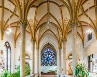 Intérieur du château Vajdahunyad à Budapest Photos stock