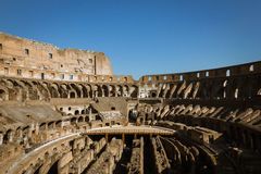 Intérieur du Colosseum Images stock