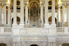 Intérieur du congrès de bibliothèque dans le Washington DC Image libre de droits