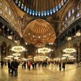 Intérieur du Hagia Sophia à Istanbul Images libres de droits