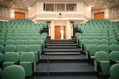 Intérieur du hall pour des conférences de fixation photo stock
