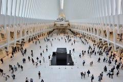 Intérieur du hub de transport de WTC Images libres de droits