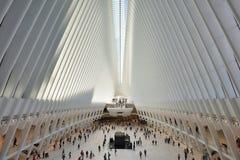 Intérieur du hub de transport de WTC Images stock