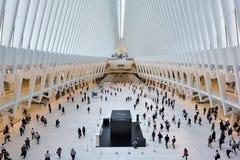 Intérieur du hub de transport de WTC, NYC images libres de droits