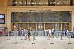 Intérieur du lobby principal de la station de train centrale de Bruxelles Photographie stock libre de droits