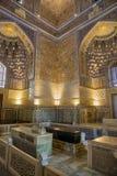 Intérieur du mausolée Guri Amir Image stock
