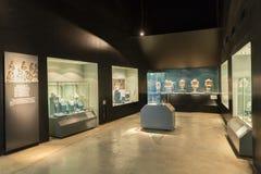 Intérieur du musée de pyramides de Teotihuacan Photos stock