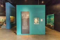 Intérieur du musée de pyramides de Teotihuacan Photographie stock