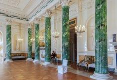 Intérieur du palais de Pavlovsk, résidence impériale russe, nea photographie stock