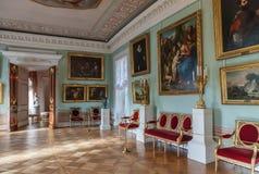 Intérieur du palais de Pavlovsk, résidence impériale russe, nea Photos stock