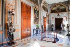 Intérieur du palais du chevalier Image libre de droits