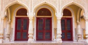 Intérieur du palais Jaipur, Inde de ville photos stock