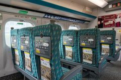 Intérieur du rail à grande vitesse de Taïwan à la station de Zuoying Image libre de droits