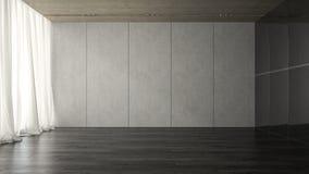 Intérieur du rendu vide de salle 3D Photos libres de droits