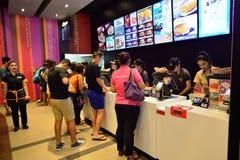 Intérieur du restaurant de McDonald Photographie stock libre de droits