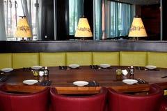 Intérieur du restaurant japonais Images libres de droits