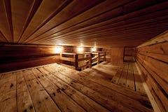 Intérieur du sauna public Avantage pour la santé image stock