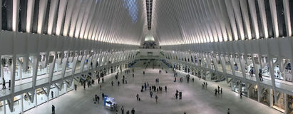 Intérieur du terminal d'Oculus du transport de World Trade Center Photographie stock libre de droits