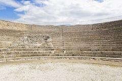 Intérieur du théâtre romain Photographie stock libre de droits