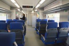 Intérieur du train au cercle de Moscou ou au MCC central Photos stock