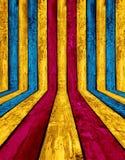 Intérieur en bois coloré Photos stock