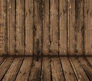 Intérieur en bois de cru Image stock