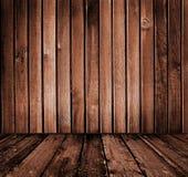 Intérieur en bois de cru Photographie stock libre de droits