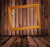 Intérieur en bois de cru Image libre de droits