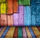 Intérieur en bois de cru coloré Photographie stock libre de droits