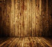 Intérieur en bois de pièce Images libres de droits