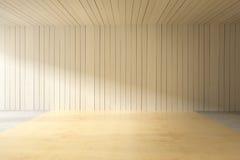 Intérieur en bois de planche Images libres de droits