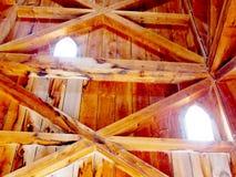 Intérieur en bois 2013 2 de tour de St Jacobs Village Photos stock