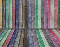 Intérieur en bois multicolore Photographie stock libre de droits