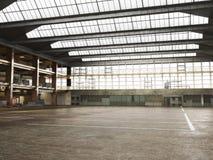 Intérieur entrepôt encadré grand par grunge Photo libre de droits