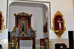 intérieur espagnol d'église Image libre de droits