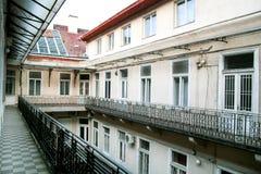 Intérieur extérieur d'architecture du bâtiment Images libres de droits