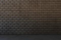 Intérieur foncé avec le mur de briques Images libres de droits